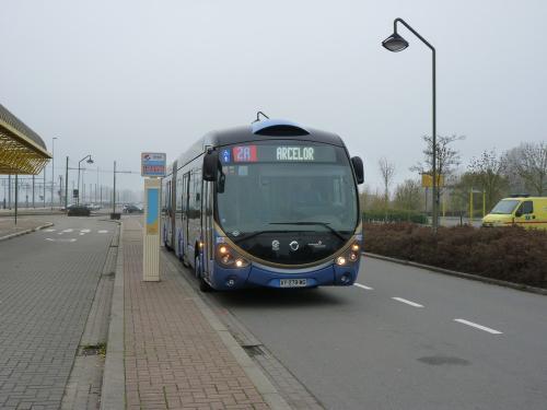 11/11/2011 - foto bus Irisbus Crealis Neo 852 DK'Bus Marine op lijn 2A in De Panne - Belgïe