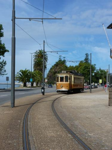 28/08/2012 - photo tram 213 STCP - Sociedade de Transportes Colectivos do Porto sur la ligne 1 à Porto - Portugal