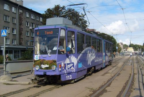 26/08/2010 - foto tram Tatra KT4 113 TTTK - Tallinna Trammi- ja Trollibussikoondise Aktsiaseltsi op lijn 4 in Tallinn - Estland