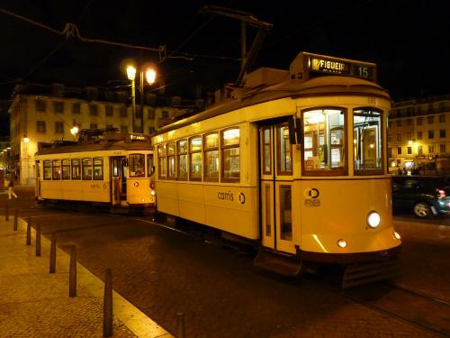 30/08/2012 - photo tram 580 Carris on route 15 in Lisbon - Portugal