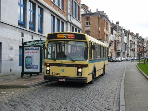 Evocation de la ligne de bus 29 à l'arrêt Clovis