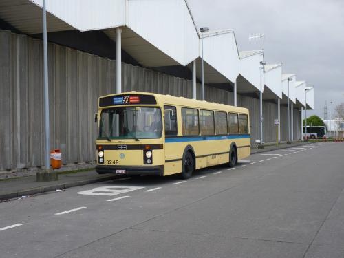 Arrêt photo au terminus de la ligne 59, dans le dépôt de Haren