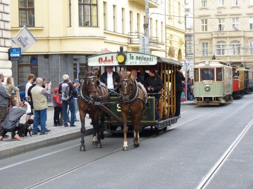 20/09/2015 - photo tramway hippomobile 90 DPP - Dopravní podnik hlavního města Prahy à Prague - République Tchèque