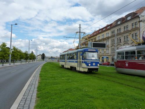 20/09/2015 - photo tram Tatra T4 5500 DPP - Dopravní podnik hlavního města Prahy à Prague - République Tchèque