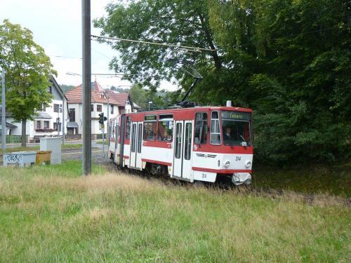 17/09/2015 - photo tram Tatra KT4 314 TWSB - Thüringerwaldbahn und Straßenbahn Gotha GmbH  sur la ligne 4 à Gotha - Allemagne