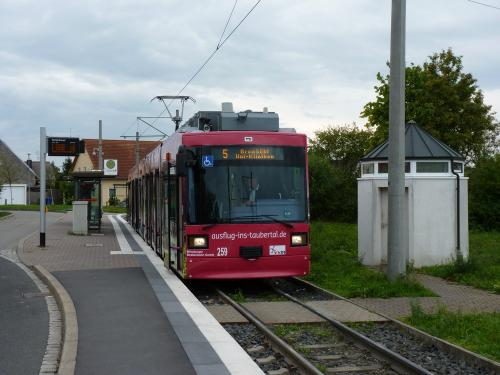 22/09/2015 - foto tram 259 WSB - Würzburger Straßenbahn op lijn 5 in Würzburg - Duitsland