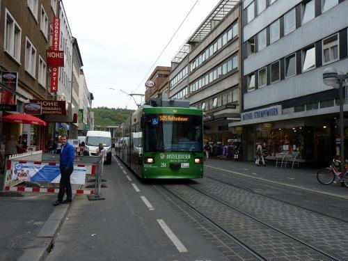 22/09/2015 - foto tram 254 WSB - Würzburger Straßenbahn op lijn 505 in Würzburg - Duitsland