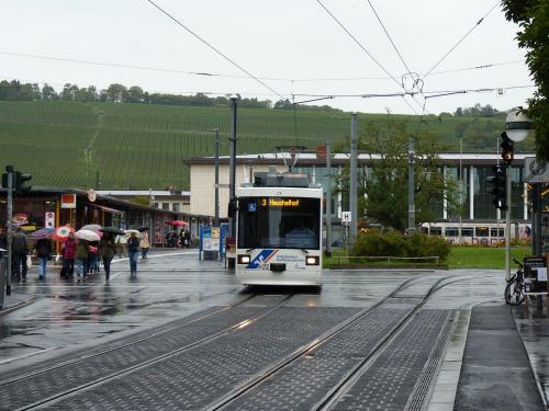 22/09/2015 - foto tram 252 WSB - Würzburger Straßenbahn op lijn 3 in Würzburg - Duitsland