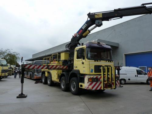 21/09/2016 - foto servicewagen MAN 373 STIB-MIVB in Brussel - Belgïe