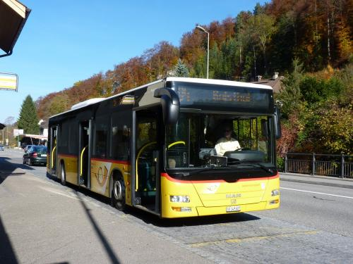 30/10/2016 - foto bus MAN Lion's City CarPostal op lijn 94 in Waldenburg - Zwitserland