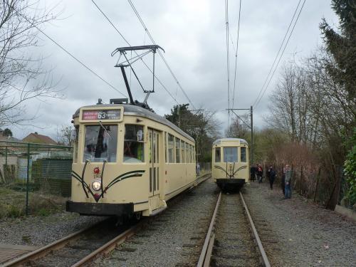 19/03/2017 - foto tram Type S Métro SNCV-NMVB op lijn 63 in Charleroi - Belgïe