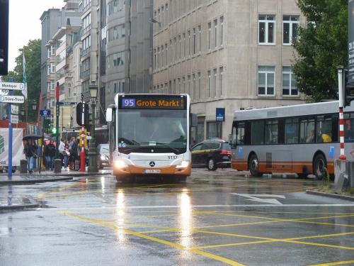 08/09/2017 - photo bus Mercedes-Benz Citaro 9137 STIB-MIVB sur la ligne 95 à Bruxelles - Belgique