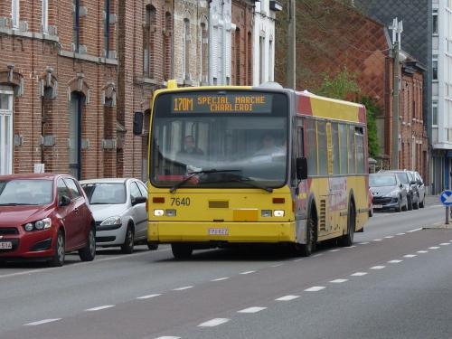 06/04/2014 - foto bus Van Hool A500 7640 TEC op lijn 170M in Charleroi - Belgïe