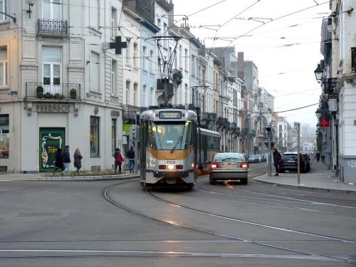 02/12/2017 - photo tram BN PCC7900 7928 STIB-MIVB à Bruxelles - Belgique