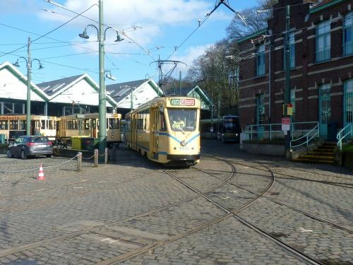 10/02/2018 - photo tram 4032 STIB-MIVB sur la ligne 58 à Bruxelles - Belgique