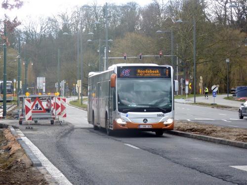 11/03/2018 - photo bus Mercedes-Benz Citaro 9808 STIB-MIVB à Bruxelles - Belgique