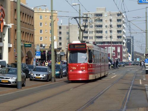 08/04/2018 - foto tram 3118 HTM Personenvervoer op lijn 1 in Den Haag - Nederland