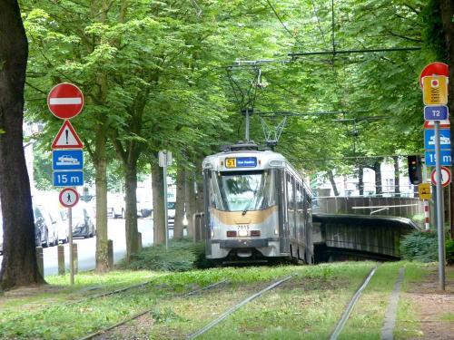 03/06/2018 - photo tram BN PCC7900 7915 STIB-MIVB sur la ligne 51 à Bruxelles - Belgique