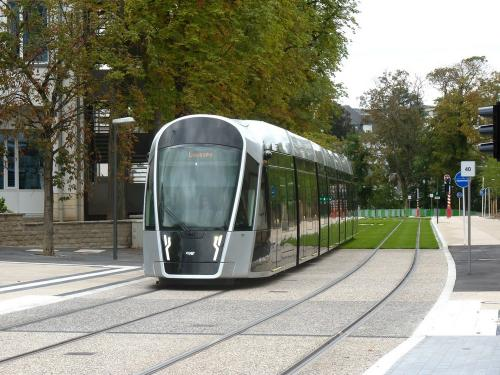 15/08/2018 - photo tram CAF Urbos 3 Luxtram à Luxembourg - Luxembourg