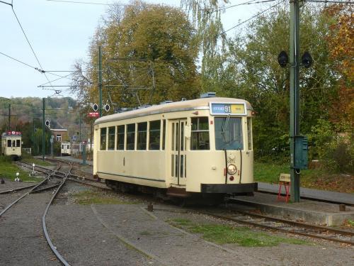 28/10/2018 - foto tram Type SE 9974 SNCV-NMVB op lijn 91 in Thuin - Belgïe