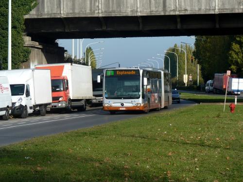 04/11/2018 - photo bus Mercedes-Benz Citaro 9014 STIB-MIVB sur la ligne 3 à Bruxelles - Belgique