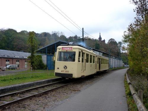 28/10/2018 - foto trein ART 300 SNCV-NMVB in Thuin - Belgïe