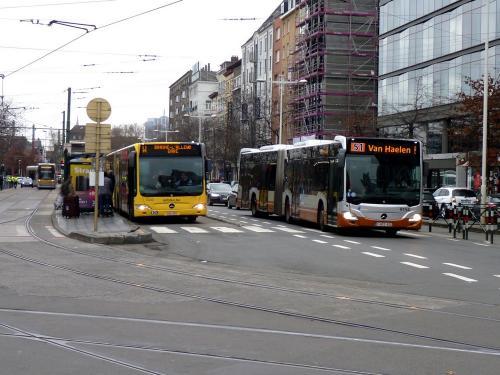 01/12/2018 - photo bus Mercedes-Benz Citaro STIB-MIVB, TEC à Bruxelles - Belgique