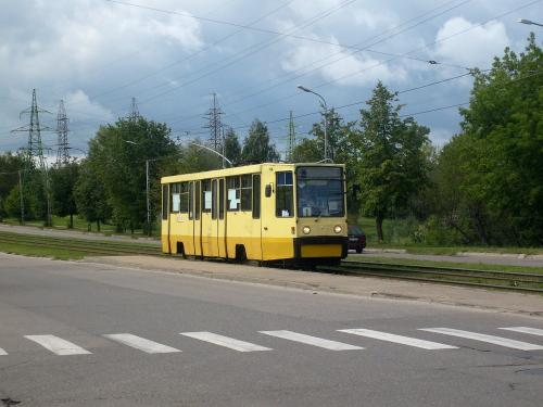23/08/2010 - photo tram KTM-8 114 Daugavpils Tramvaju uzņēmums sur la ligne 1 à Daugavpils - Lettonie