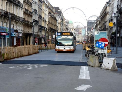 03/02/2019 - photo bus Mercedes-Benz Citaro 9037 STIB-MIVB sur la ligne 95 à Bruxelles - Belgique