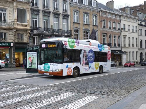22/02/2019 - photo bus Solaris Urbino 1004 STIB-MIVB sur la ligne 33 à Bruxelles - Belgique