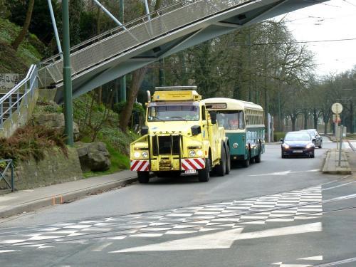 02/03/2019 - photo bus camion véhicule de service Volvo 363 STIB-MIVB à Bruxelles - Belgique