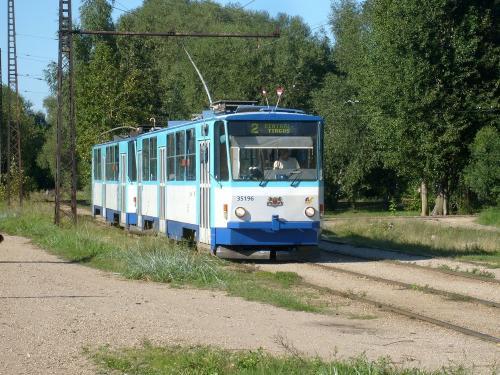 20/08/2010 - photo tram 35196 Rīgas satiksme sur la ligne 2 à Riga - Lettonie