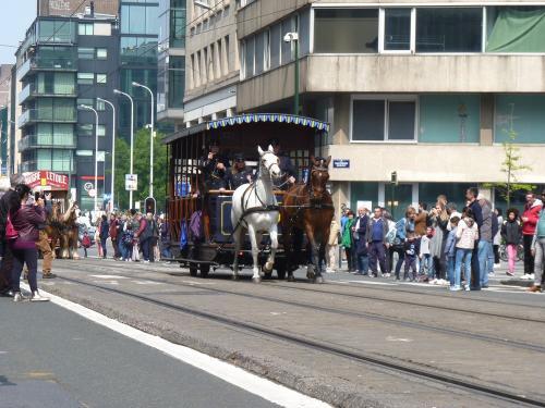 01/05/2019 - photo tramway hippomobile 509 STIB-MIVB à Bruxelles - Belgique
