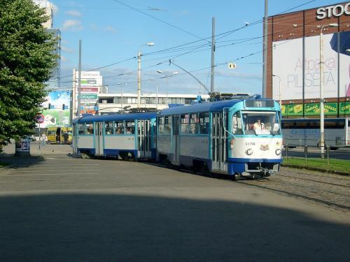 24/08/2010 - foto tram Tatra T3 51798 Rīgas satiksme op lijn 11 in Riga - Letland