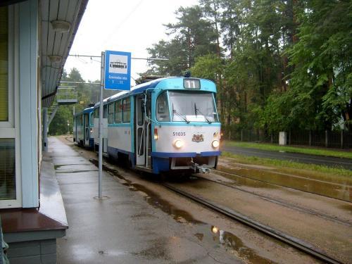 19/08/2010 - foto tram Tatra T3 51035 Rīgas satiksme op lijn 11 in Riga - Letland