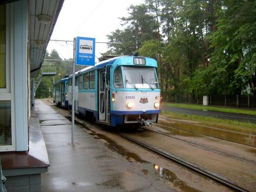 19/08/2010 - photo tram Tatra T3 51035 Rīgas satiksme sur la ligne 11 à Riga - Lettonie