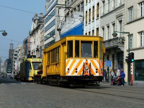 01/05/2019 - photo tram STIB-MIVB à Bruxelles - Belgique