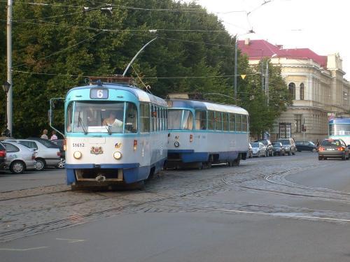 24/08/2010 - photo tram Tatra T3 Rīgas satiksme sur la ligne 6 à Riga - Lettonie