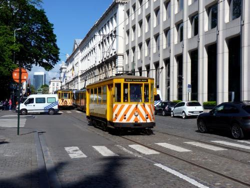 04/05/2019 - photo tram 7 STIB-MIVB à Bruxelles - Belgique