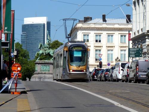 28/06/2019 - photo tram BN-ACEC T2000 2019 STIB-MIVB sur la ligne 93 à Bruxelles - Belgique