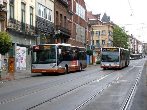 07/07/2019 - foto bus STIB-MIVB in Brussel - Belgïe