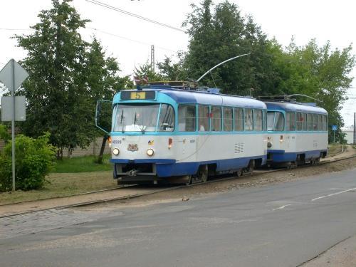 21/08/2010 - photo tram Tatra T3 40599 Rīgas satiksme on route 5 in Riga - Latvia