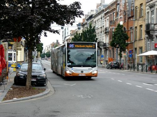 07/07/2019 - foto bus Mercedes-Benz Citaro 9155 STIB-MIVB op lijn 95 in Brussel - Belgïe